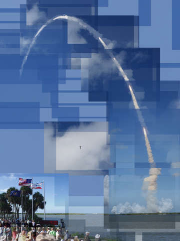 2008 Space Shuttle Launch, Discovery, Cape Canaveral, Florida
