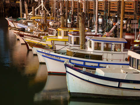 Vintage fishing boats