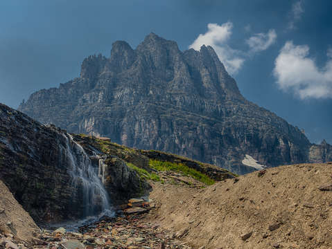 Logan pass waterfall