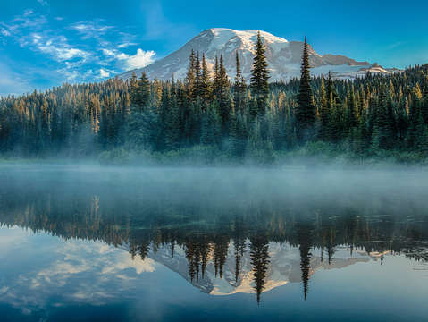 Reflection pond and mountain rainier
