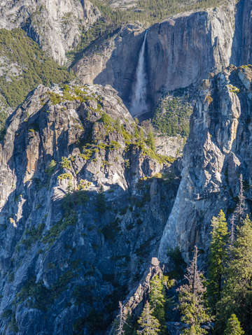 Yosemite falls and valley
