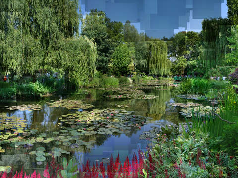 Monets lily pond at giverny