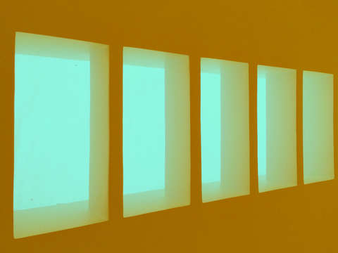 Skylight aqua and orange