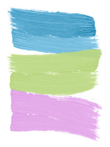 Blue green pink shape