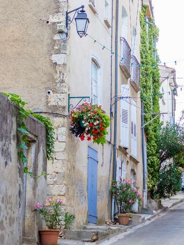 Blue door in provence