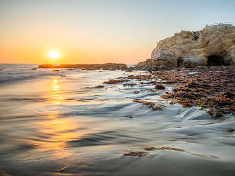 Crystal cove wave sunset