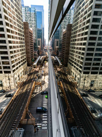 Chicago train system