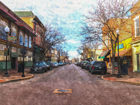 St charles main st painterly