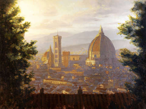 Florence italy the duomo from a distance 2