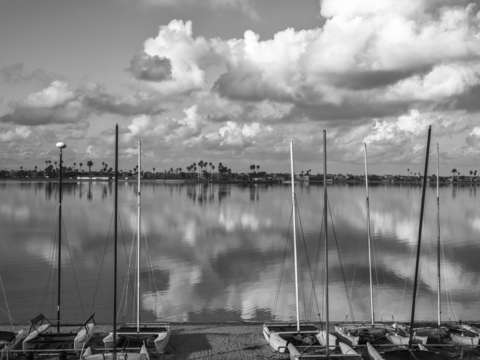 A winter monochrome at mission bay