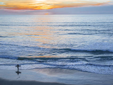 Surf surfer sunset