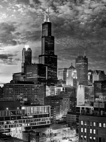 Chicago urban scene