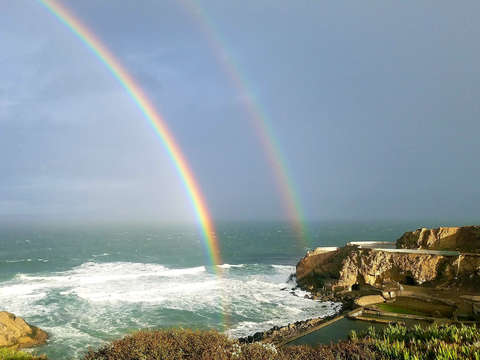 Rainbow over sutro baths