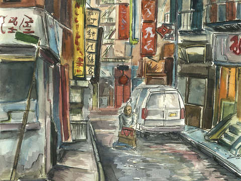 Chinatown alley nyc