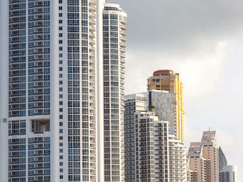 Detail of buildings at sunny isles