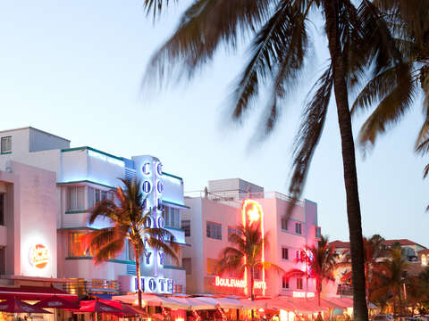 Art deco architecture at ocean drive