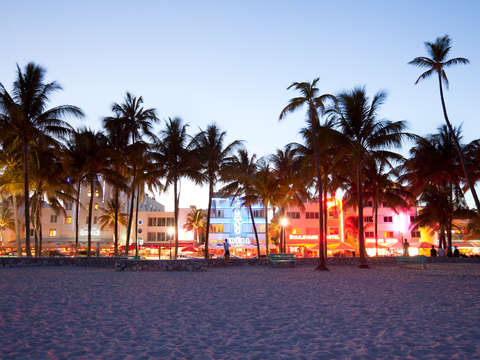 Ocean drive from the beach