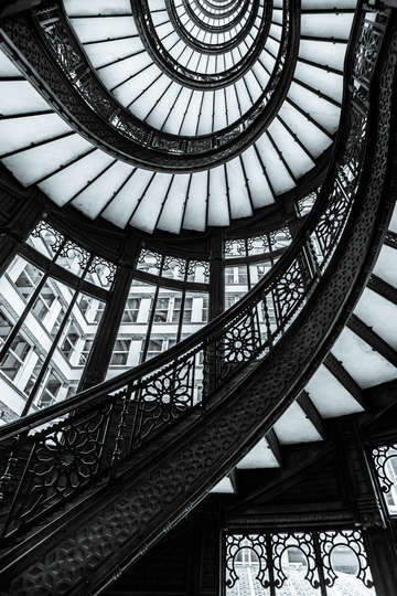 Rookery stairs and windows