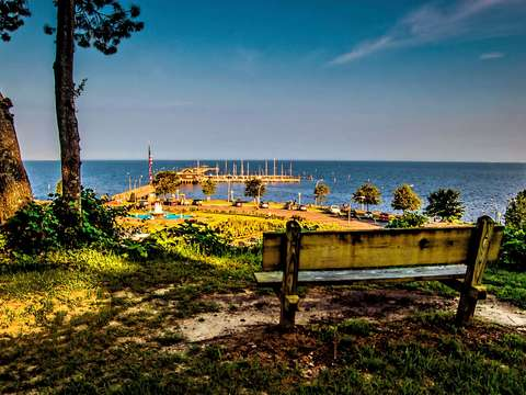 Bench at the fairhope pier v2