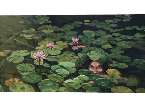 Lillian in the lillies
