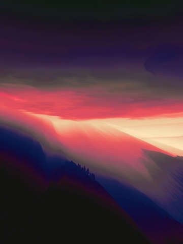 Sunset in the mountains 4