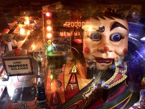 Creepy clown pinball
