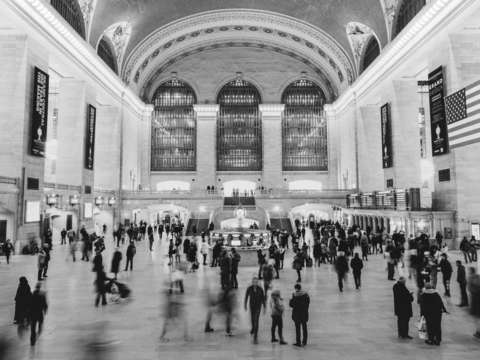 Grand central black and white