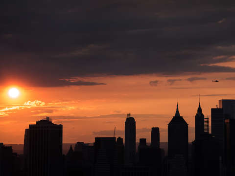 Orange nyc skyline