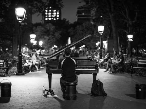 Washington square park pianist