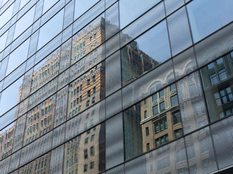 Reflected manhattan nyc