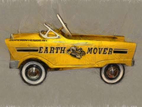Earth mover pedal car