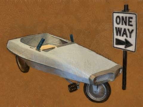 One way probe pedal car