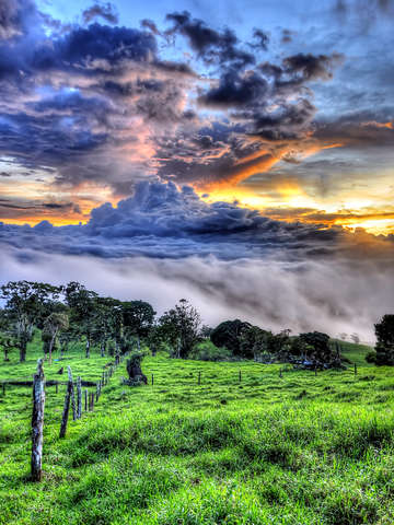Costa rican countryside
