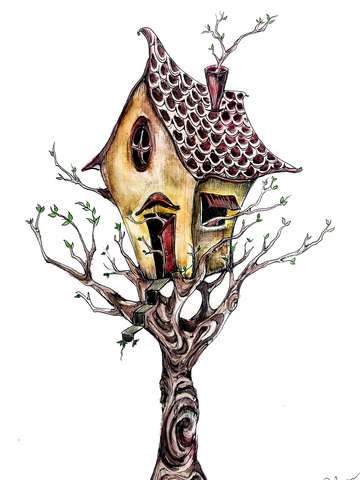 Treehouse whimsy