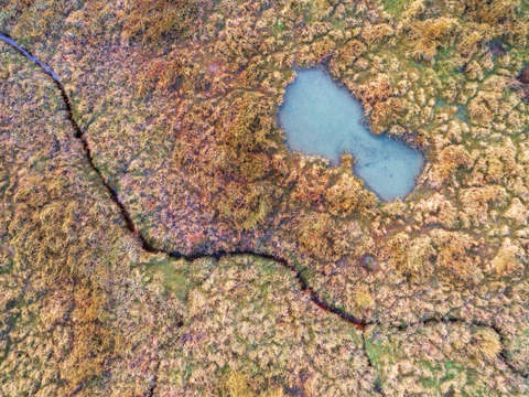 Abstract aerial landscape viii