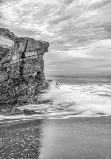 A piece of the cliff monochrome
