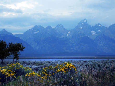 Grand tetons early morning