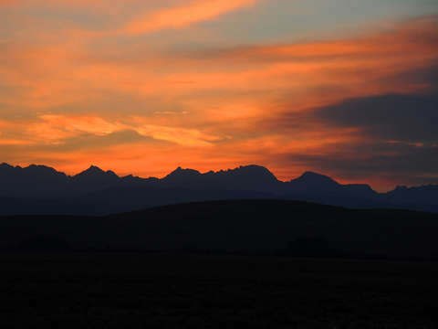 Wyoming range at sunset
