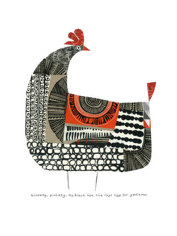 Clare youngs black hen