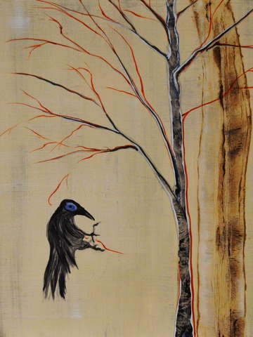 Crow and willow