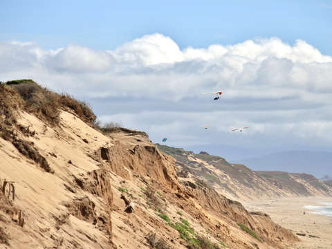 Hang gliding at marina state beach