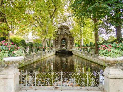 Medici fountain in paris france