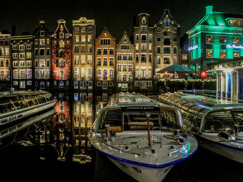Nighttime in amsterdam
