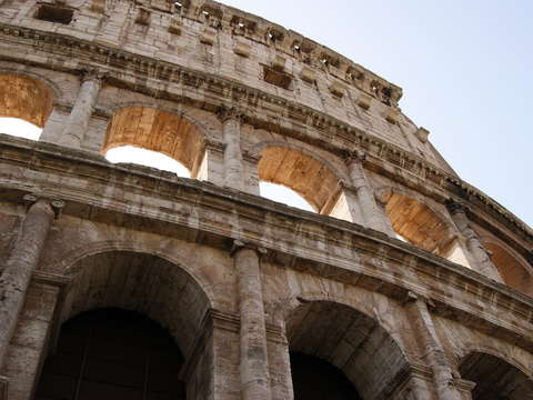 The coliseum in rome italy