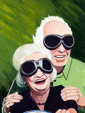 Speeding older couple