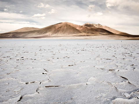 Salt crust in the altiplano