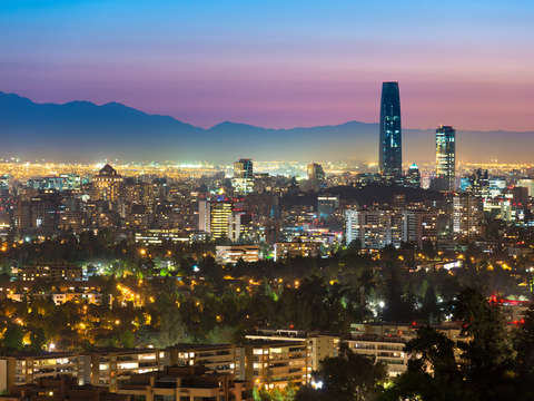Cityscape of santiago de chile