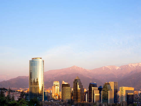 Skyline of santiago de chile 2