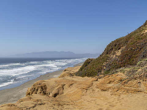 Funston beach cliffs