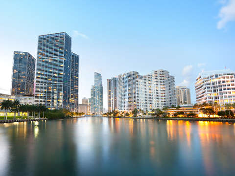 Cityscape of brickell key